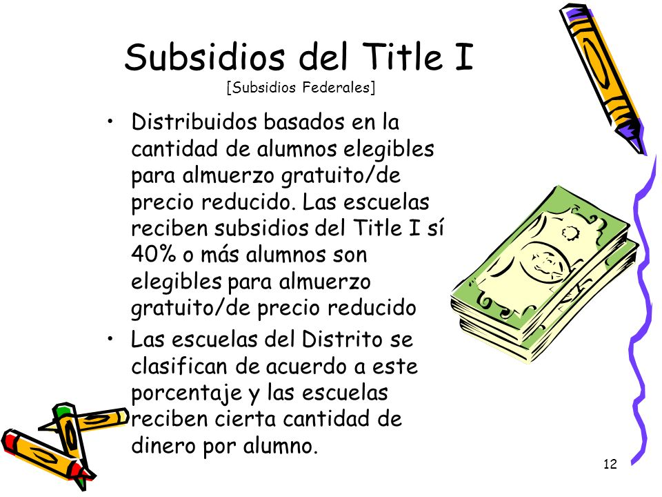Subsidios del Title I [Subsidios Federales]